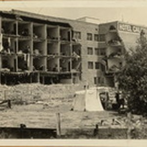 Santa Barbara 1925 Earthquake Damage - Hotel Californian