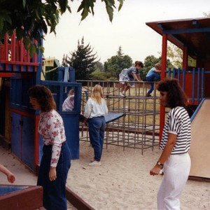 Children playing at a playground