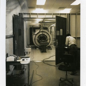 Magnet quench visible through door in the Radiologic Imaging Laboratory
