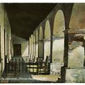 The Colonnade, Mission San Miguel, Cal