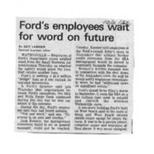 Ford's employees wait for word on future