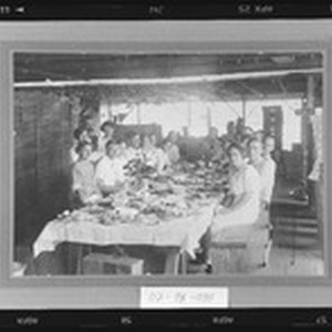 Company lunch at a Selma packing shed