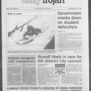 Daily Trojan, Vol. 114, No. 56, April 10, 1991