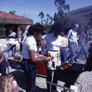 students barbecuing