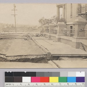 [Fissures in street near Roman Catholic Orphanage Youth's Directory, near Nineteenth and ...