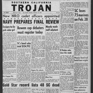 The Trojan, Vol. 35, No. 85, February 14, 1944