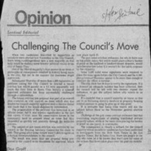 Challenging the council's move