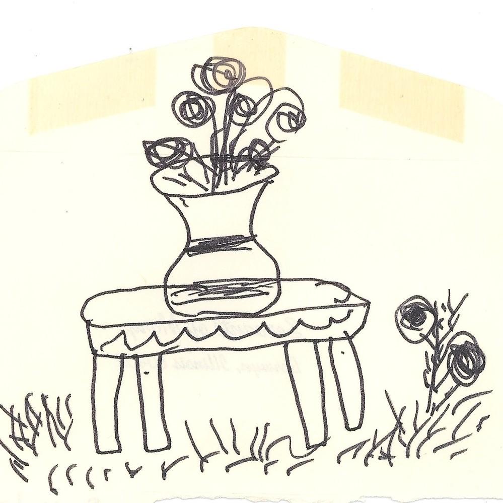 Calisphere drawing of flower vase on table reviewsmspy