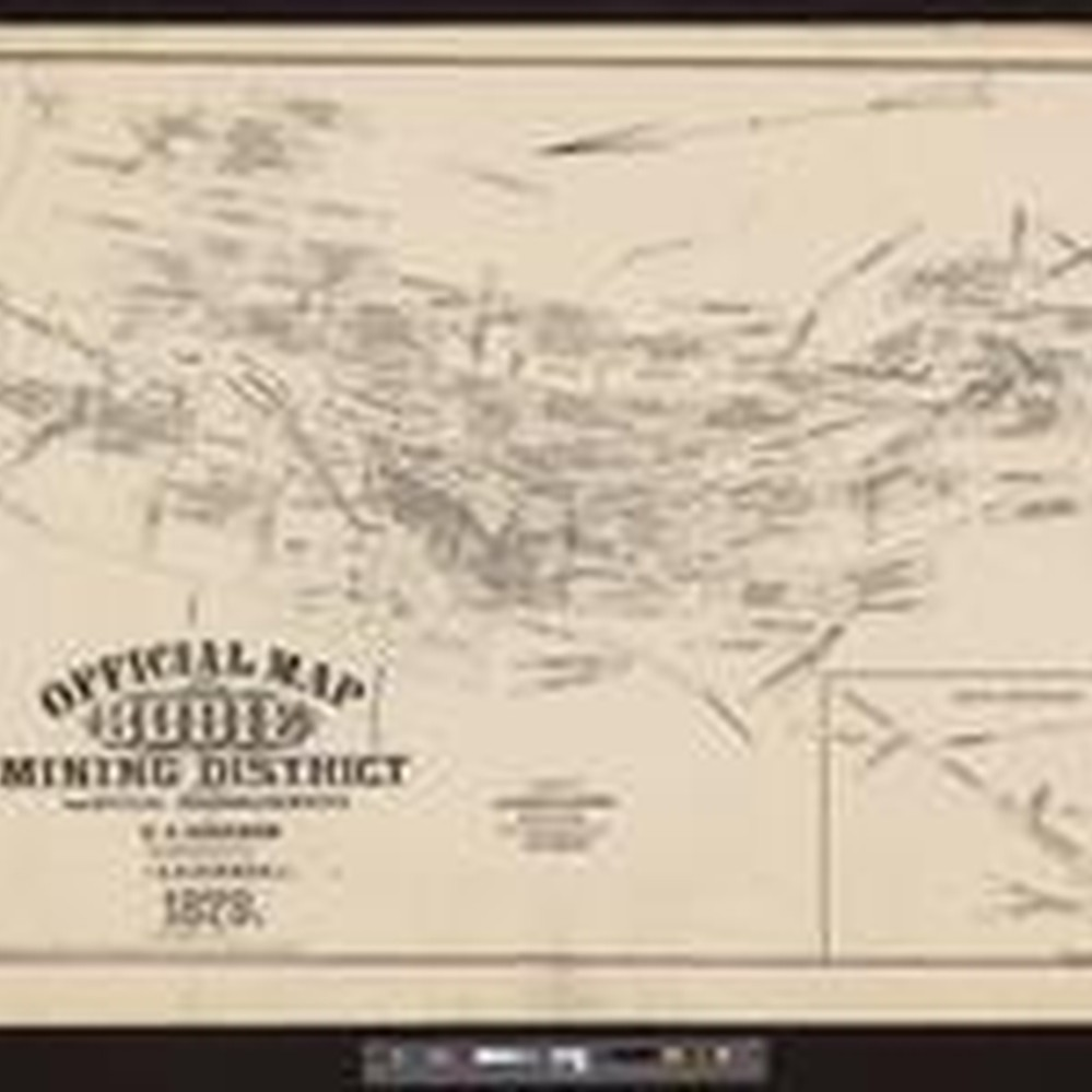 Calisphere Official Map Of Bodie Mining District