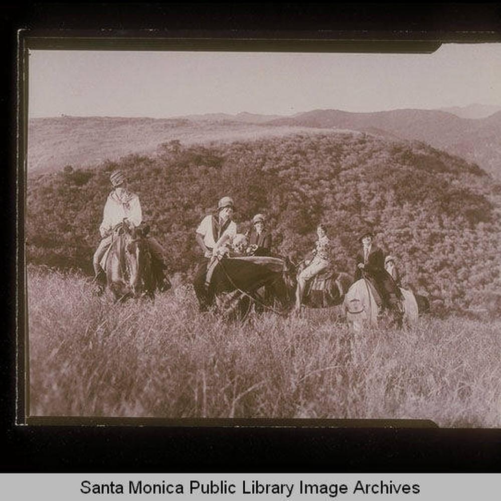 Calisphere Horseback Riders In The Santa Monica Mountains