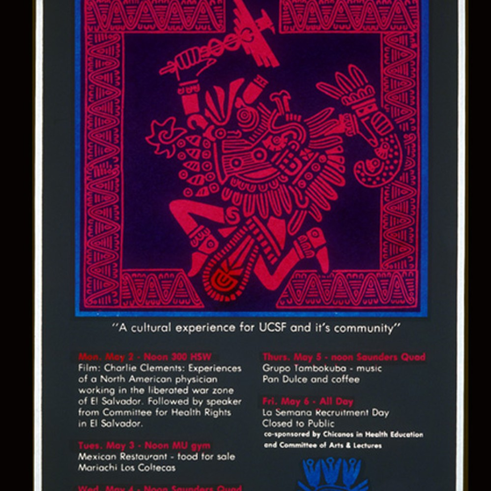 Calisphere: La Semana at UCSF 1983, Announcement Poster for