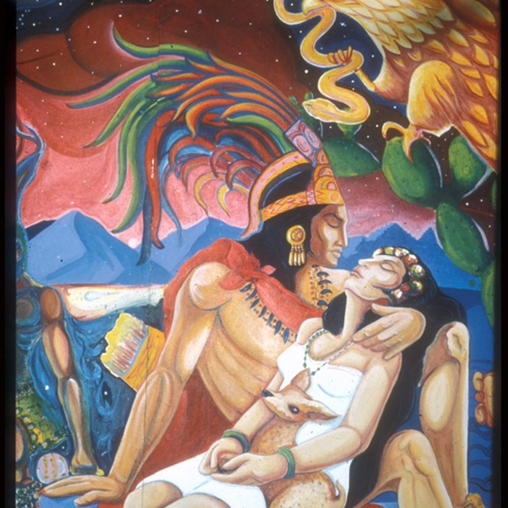 Calisphere Amor Indio Detail Of Mural Entitled Crystallization