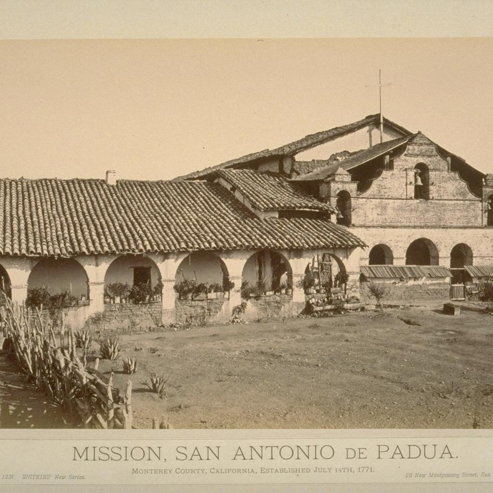Calisphere: Mission, San Antonio de Padua. Monterey County, California,  established July 14th, 1771