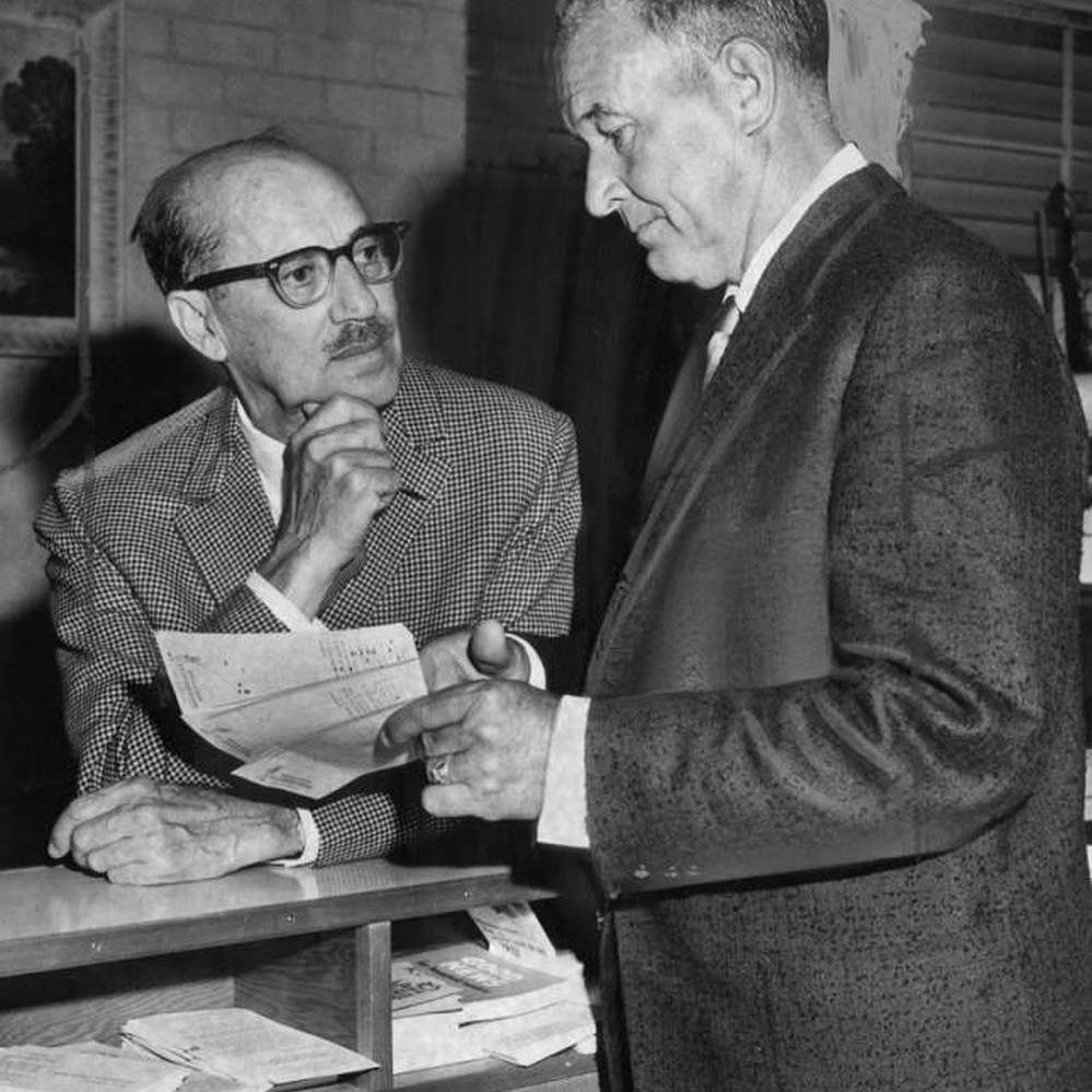 Calisphere Groucho Marx Gets Social Security Check