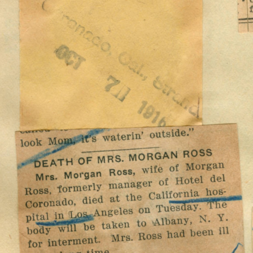 Death Of Mrs Morgan Ross Calisphere George was born on july 16 1760, in so branch potomic river. calisphere