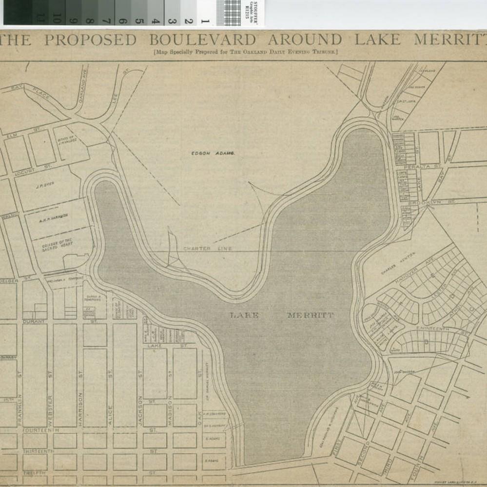 calisphere the proposed boulevard around lake merritt