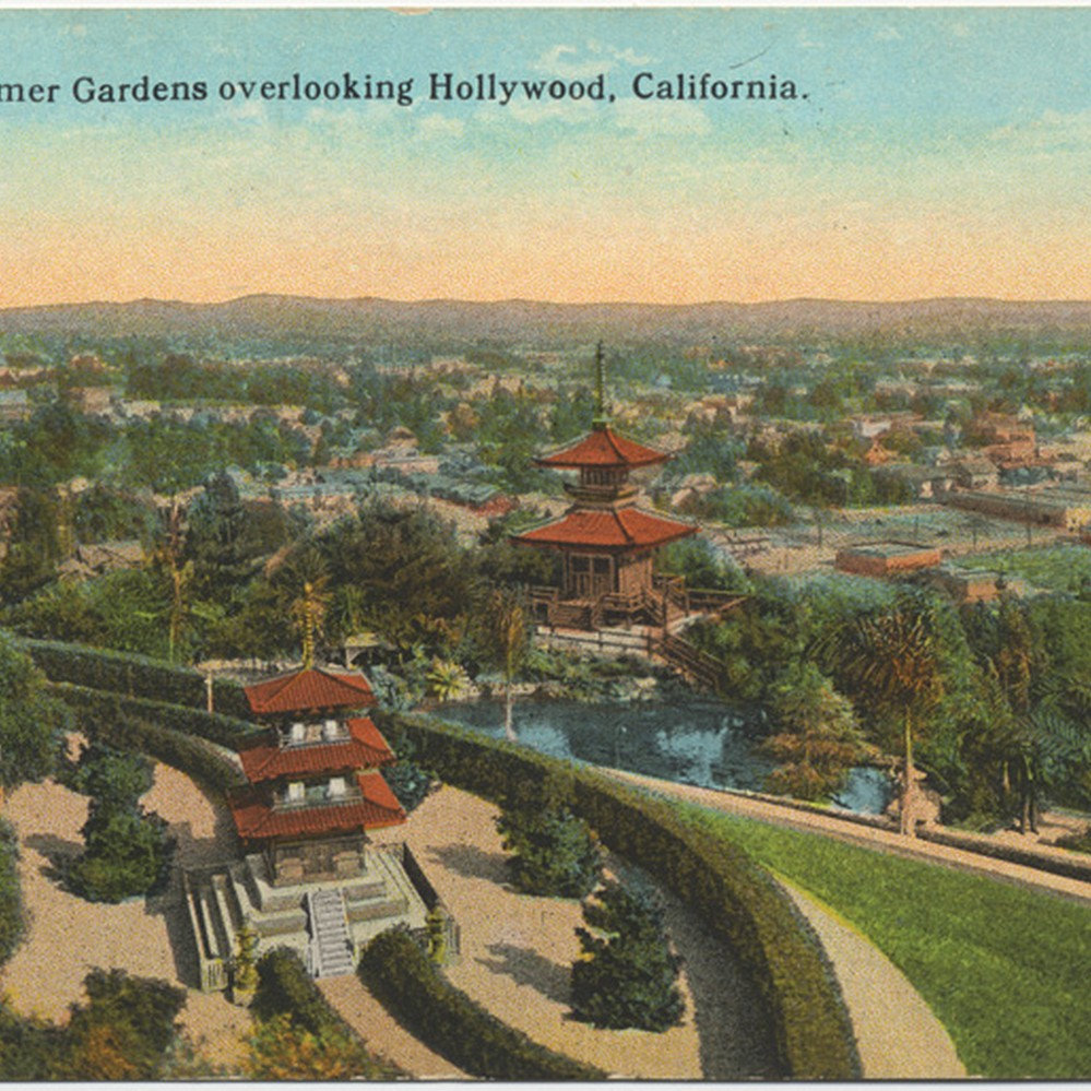 Calisphere: The Bernheimer Gardens overlooking Hollywood, California