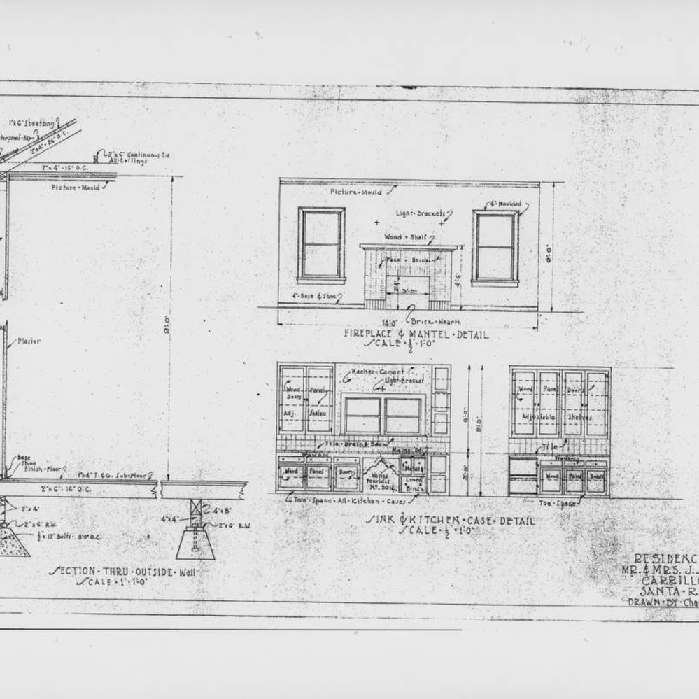 Calisphere architectural drawings for a residence on carrillo calisphere architectural drawings for a residence on carrillo street santa rosa california prepared for mr and mrs j schalich by charles p casey in malvernweather Choice Image