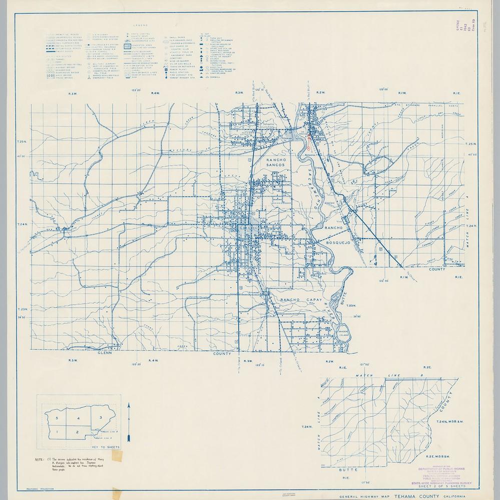 Calisphere General Highway Map Tehama County Calif Sheet 2
