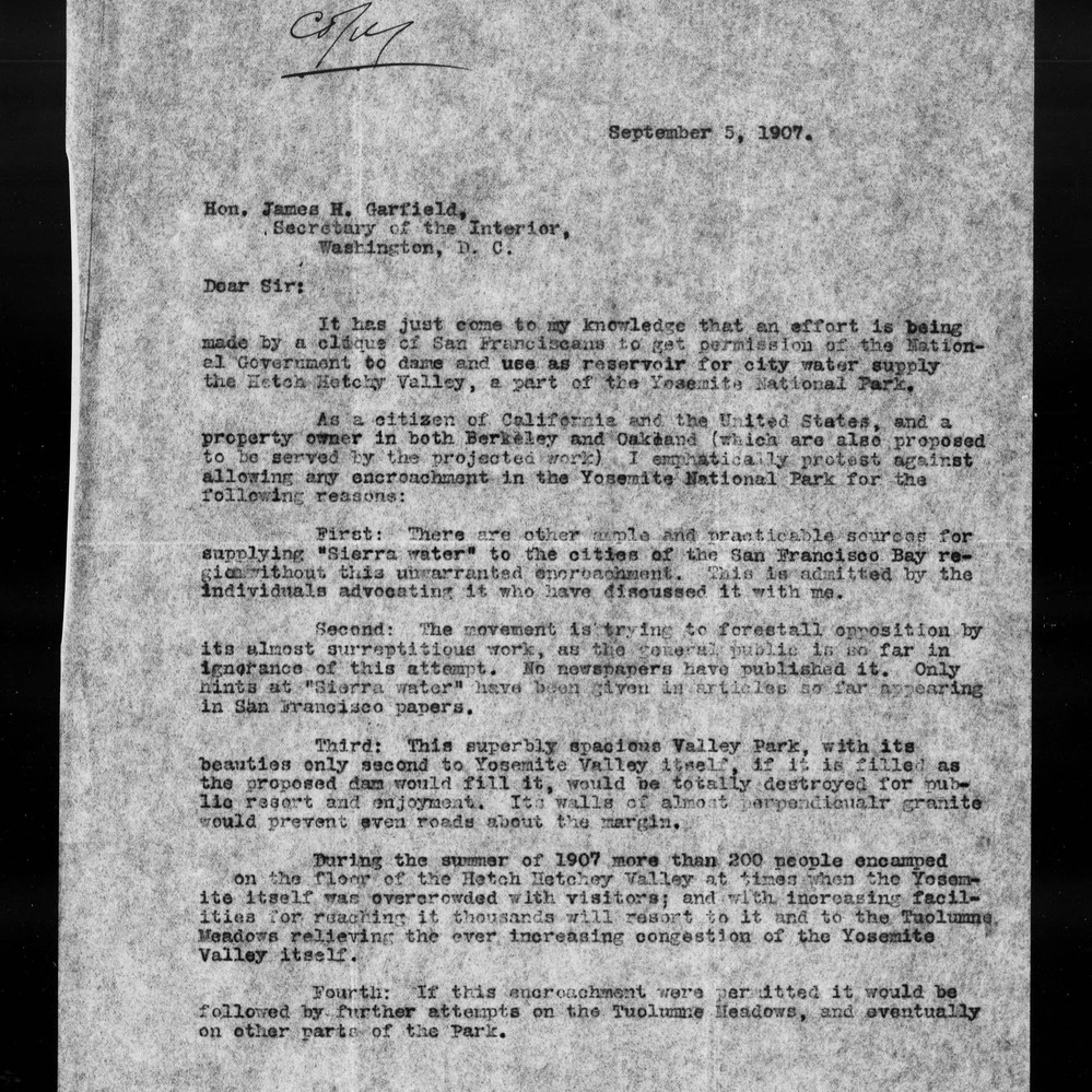 Calisphere: Letter from E[dward] T  Parsons to James H  [R