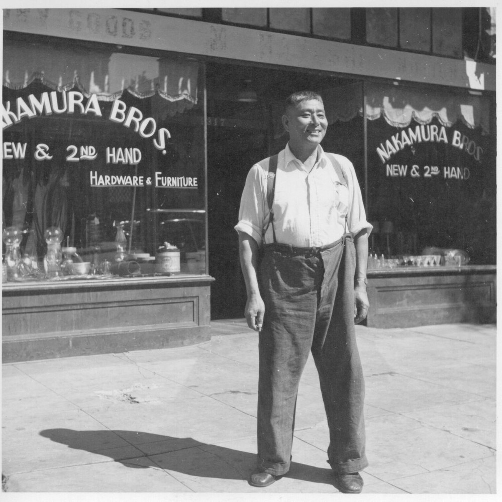 Calisphere: Mr. Rokutaro Nakamura (formerly Of Granada) Is Standing In  Front Of His Newly Opened Furniture And Hardware Store At 1317 Fourth  Street, ...