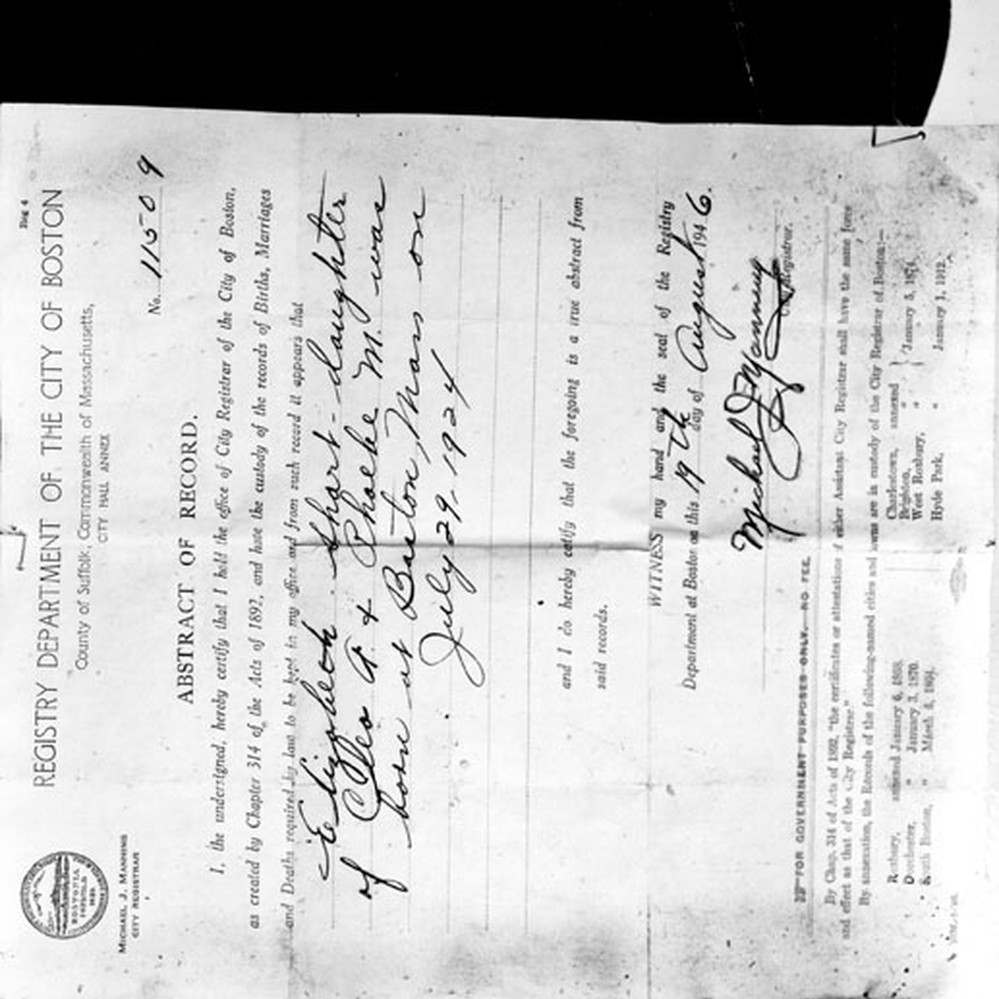 Calisphere birth certificate of black dahlia aiddatafo Gallery