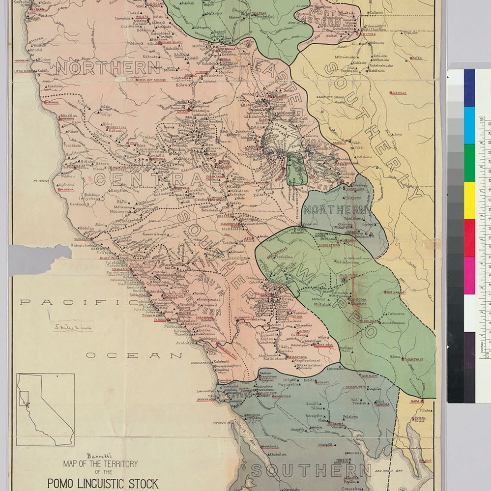 Calisphere Map of the territory of the