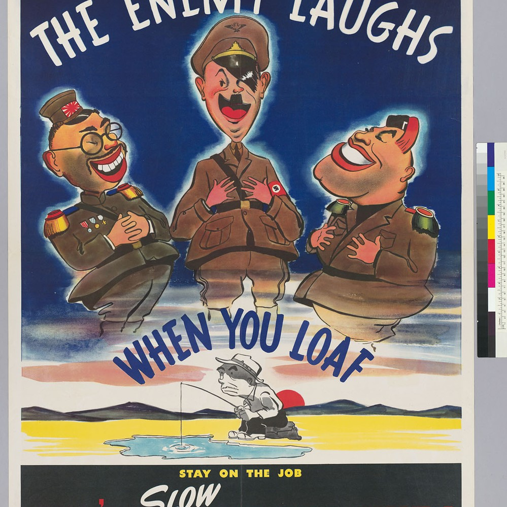 Stay on the Job NEW WWII Vintage Navy POSTER Don/'t Slow Up The Ship