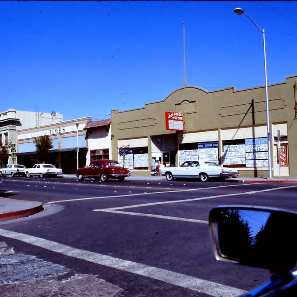 Calisphere South Main Street At Burnett In Sebastopol California 1970